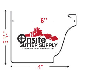 Seamless K-Style Gutters | Onsite Gutter Supply